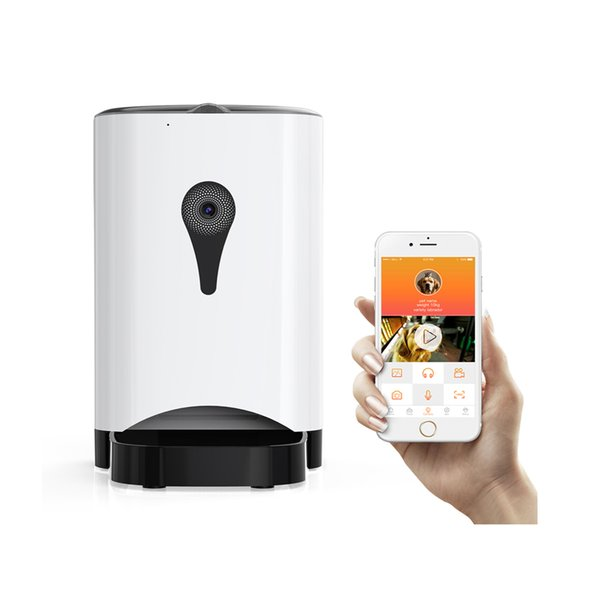 4.5L Wifi Remote Control Fashion Smart alimentatore automatico per animali domestici Macchina per l'alimentazione di cani e gatti Controllo APP Monitoraggio video 2000 ore di vita