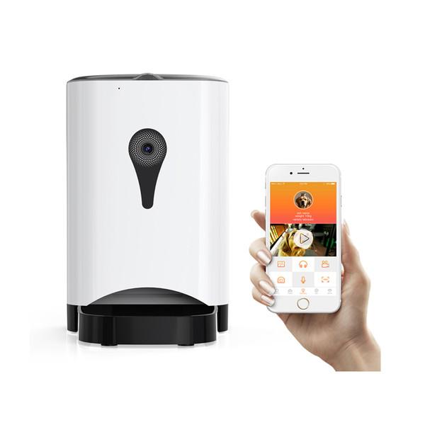 4.5L Wifi Remote Control Fashion Smart Automatic Pet Feeder Cat Dog Feeding Machine APP Control Video Monitoring 2000 Hours Life