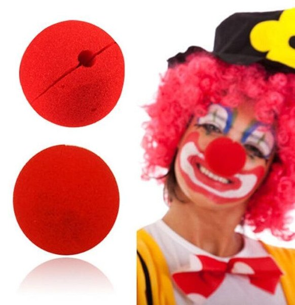 Clown nose toy 100Pcs/lot Decoration Sponge Ball Red Clown Magic Nose for Halloween Masquerade Decoration Free Shipping