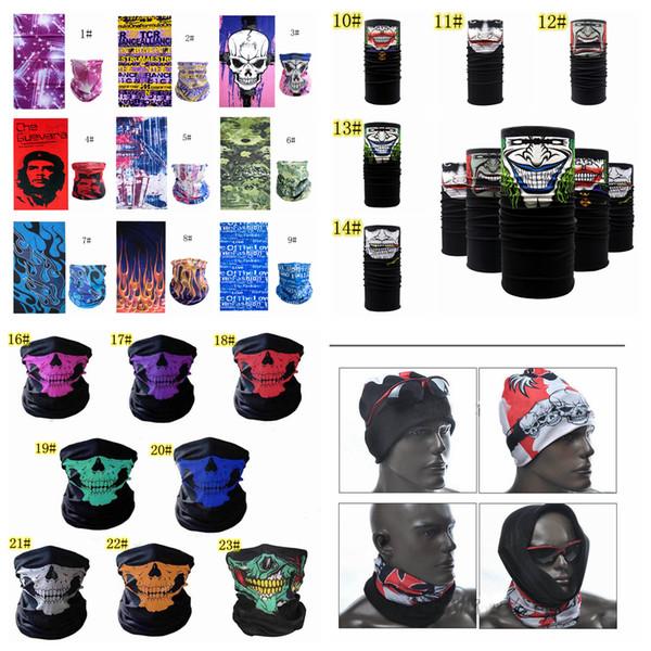 23 estilos Multifunción sin fisuras impresa máscara 3D Ciclismo Snowboard Bufanda Cuello Mascarilla Ciclismo Snowboard bufanda pañuelo FFA811 100 unids
