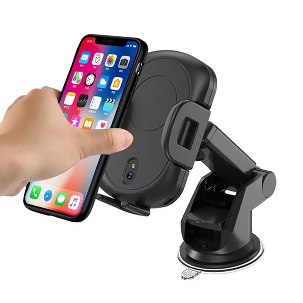 Car QI Fast Charging Automatic Infrared Sensor Wireless Charger For iphone X XR XS Max 8 Plus For Samsung S9 Note 9 8