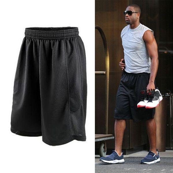 best selling 2018 Cheap Stars Black Basketball Shorts Quick Dry Breathable Training Basket-ball Jersey Sport Running Shorts Men Sportswear