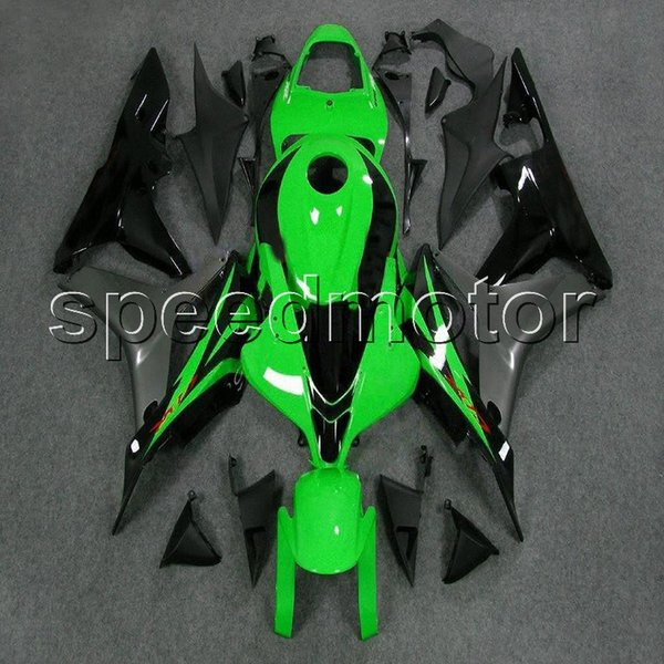 colors+Gifts Injection mold black green motorcycle Fairing for HONDA 2007 2008 CBR600RR F5 07-08 ABS plastic kit