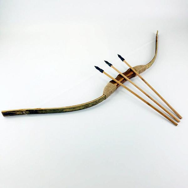 Archi e frecce Set Bambini nostalgici Bambini Giocattoli in legno Armi tradizionali Interessante Divertirsi Giocattoli Trend Regalo di moda per 3-14 anni