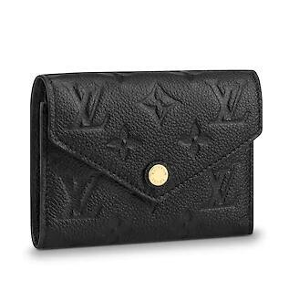 M64060 VICTORINE WALLET Embossing black Real Caviar Lambskin Chain Flap Bag LONG CHAIN WALLETS KEY CARD HOLDERS PURSE CLUTCHES EVENING