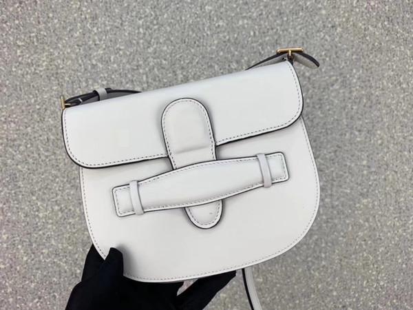 17 cm-14 cm-2.5 cm preto / branco de couro real plain moda feminina alforje sacos de senhoras crossbody sacos Celing1031