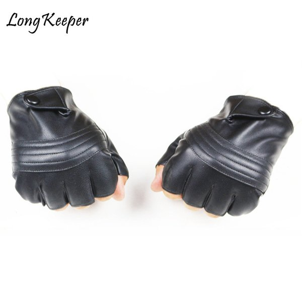 Long Keeper Hot Sale! Fashion! Mens Leather Driving Gloves High Quality Fitness Gloves Tactical Guantes Luva for men G223