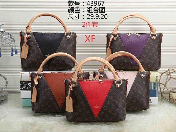 Hot recomendado marca 2 peça designer bolsa de ombro bolsa de luxo de alta qualidade bolsa das senhoras carteira saco de compras frete grátis 43967