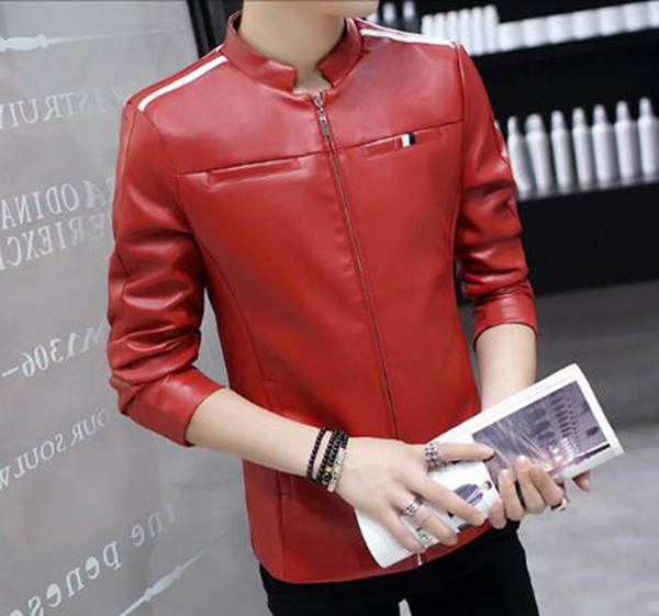 Men fall European and American boutique fashion personality han version of the stand collars to cultivate a young fur coat M-3XL