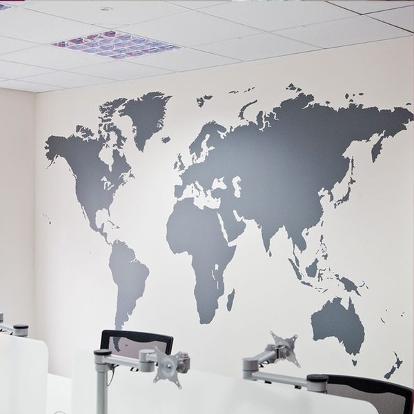 New arrival mural art home decor large world map removable wall new arrival mural art home decor large world map removable wall stickers office gumiabroncs Choice Image