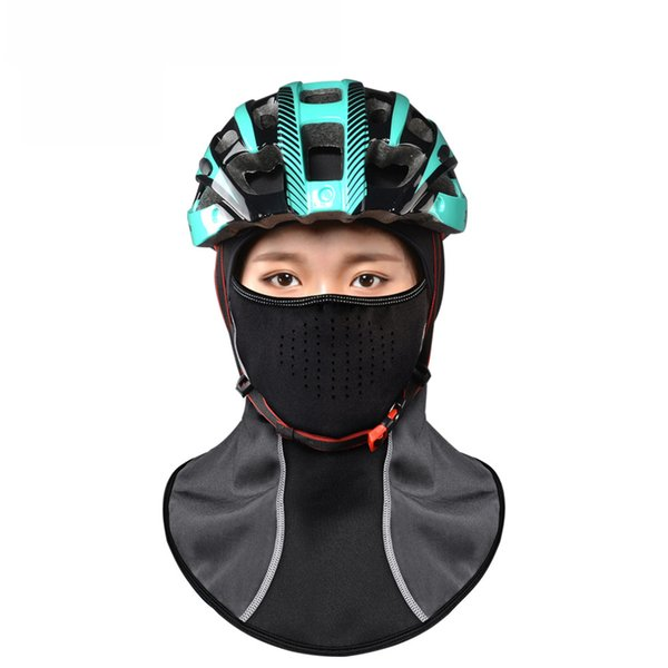 2017 HOT Rockbros Winter Cycling Cap Windproof Thermal Face Mask Balaclava Bandana Sport Ski Running Bike Bicycle Neck Hat Head Scarf Men