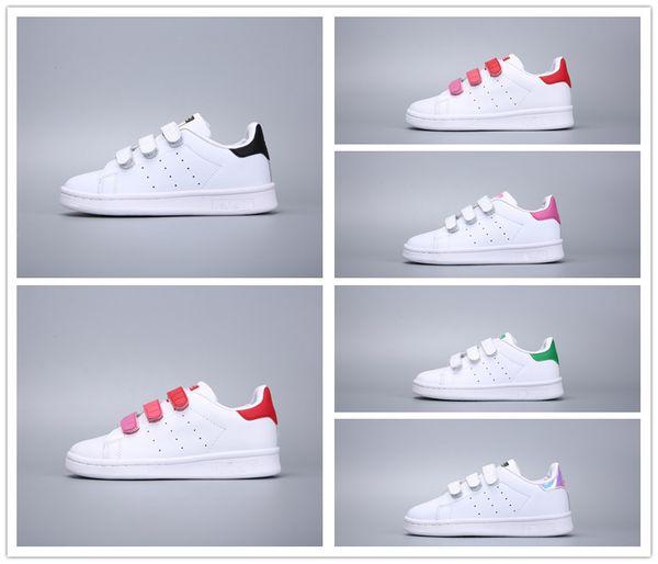 Acheter Adidas Stan Smith Stansmith 2018 Enfants Superstar Chaussures Original Blanc Or Bébé Enfants Superstars Baskets Originals Super Star Filles