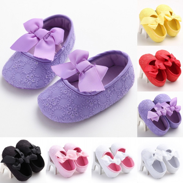 Baby Girl Princess Toddler Shoes Soft Sole-shoes Infant Leisure First Walkers Girl Toddler Shoes 7 Colors Free Shipping G135Q
