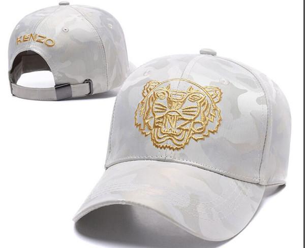 2018 Designer de Bonés de Beisebol Dos Homens Nova Marca Cabeça de Tigre Chapéus de Ouro osso Bordado Homens mulheres Casquette Sun Hat gorras Esportes Cap Transporte da gota