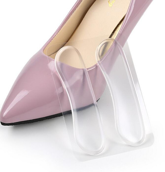 2000pairself-Shoe palmilhas Sapato Heel Paste Gel de Silicone Almofada Anti-Slip Palmilha Cuidados Com Os Pés Almofada de calcanhar Protector Alívio Gel Apertado Calcanhar Liner