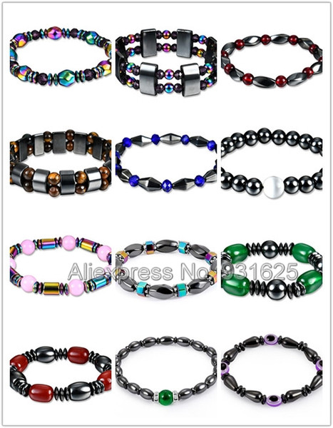 Healthy Care Colorful Energy Healing Magnet Bracelet Fashion Magnetic Hematite Beads Elastic Therapy Bracelets Charm Jewelry
