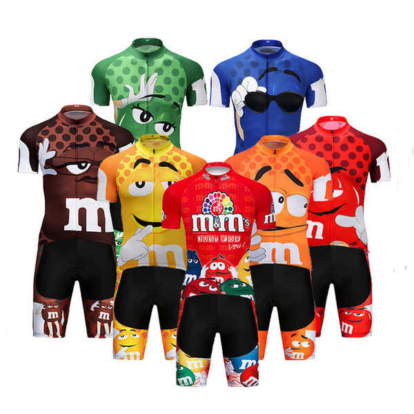 best selling 2019 Pro Cartoon Team Cycling Jersey Short 9D set MTB Bike Clothing Ropa Ciclismo Bike Wear Clothes Mens Maillot Culotte