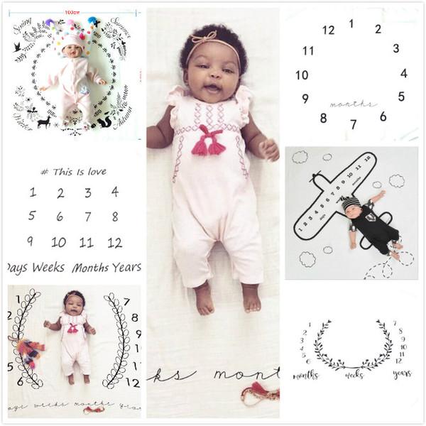 6Progetti Neonato Fotografia Sfondo Puntelli Coperta infantile Coperta in pile Fondali Coperte pasquali Stampa floreale con animali Baby Swadding