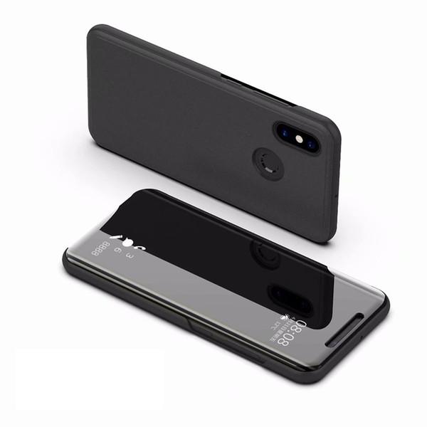 wholesale For Xiaomi mi Max 3 Cover Mi Max3 case Smart Flip Window view Electroplating Mirror Stand Hard Case Mi Max 3 case kimTHmall