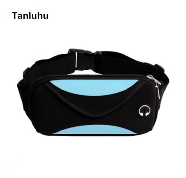 Tanluhu women multifunctional travel belt bags & packs female cute waterproof waist bags & packs female cool money belly