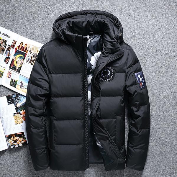 Großhandel Marke Winter Jacke Männer Hood Abnehmbare Casual Winddicht Warme Weiße Ente Daunenjacke Hohe Qualität Licht Unten Männer L18101103 Von