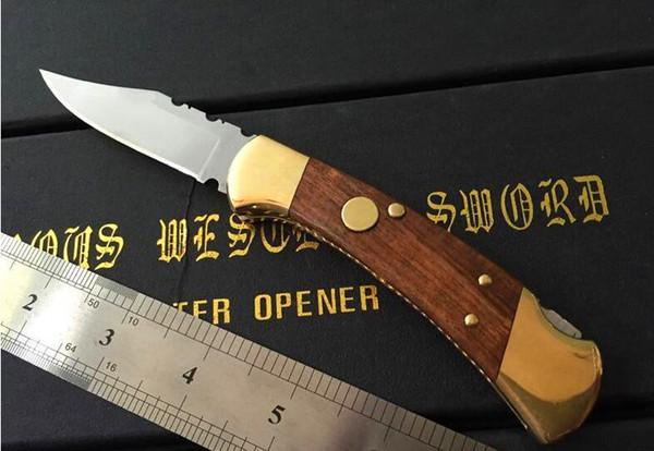 112 automatische messer single action back gezackten jagdmesser weihnachtsgeschenk messer für mann 1 stücke C36 C81
