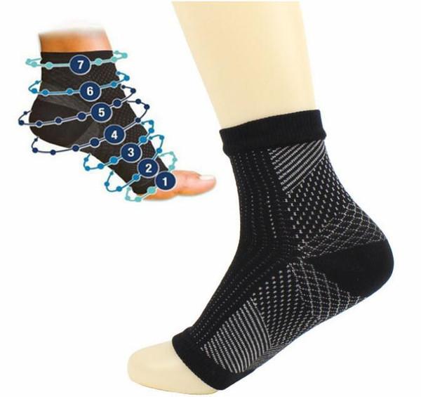 Men Women Running Cycle Basketball Sports Socks Men Outdoor Foot Angel Anti Fatigue Compression Foot Sleeve Men's Sock