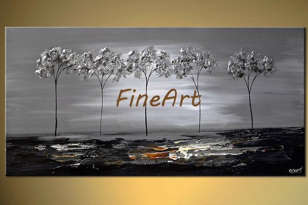 100% handpainted palette knife tree canvas art texture oil painting beauty quotes beautiful paintings on canvas nature painting