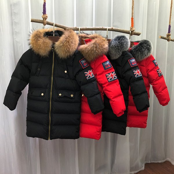 2018 Winter Down Jacket Parka for Girls Boys Coats Jackets Children's Clothing for Snow Wear Kids Outerwear & Coats