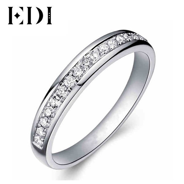 EDI Solid 9K White Gold Ring set For Women Lady Engagement Ring Pave Simulated Diamond Jewelry Matching Wedding Bands(SNR-116) S923