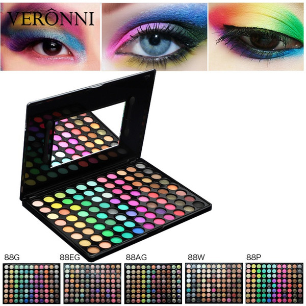 88 Color Eyeshadow Palette Matte Glitter EyeShadow Diamond Shimmer Eye Primer Warm Color Eye Shadow Women Gift