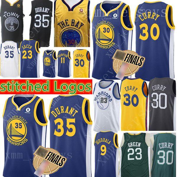 55d1fddf3 Golden State 30 Stephen Curry Warriors Jersey New 35 Kevin Durant 11 Klay  Thompson 23 Draymond Green 9 Andre lguodala Basketball Jerseys