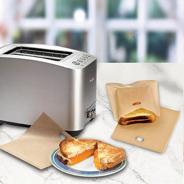 Горячие продажи PTFE сэндвич тостеры хлеб торт мешок многоразовые антипригарным выпечки мешок барбекю микроволновая печь фри отопление мешок барбекю сумки 16*16.5 см