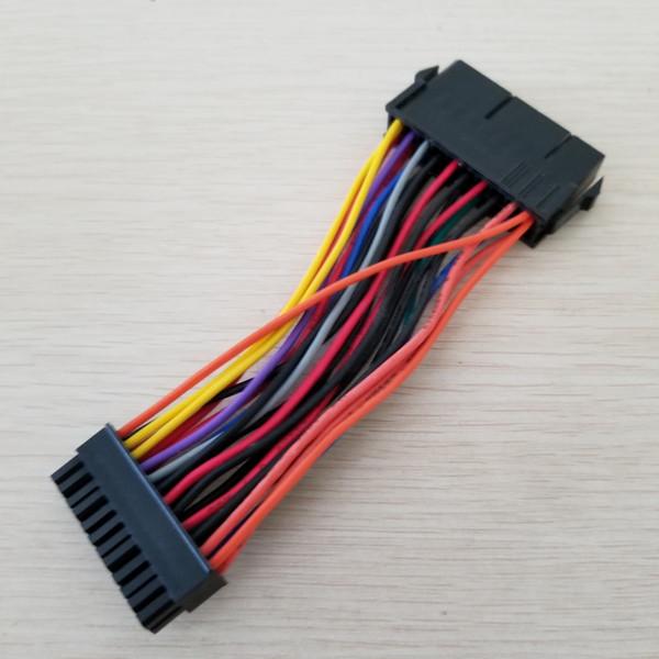 1 PCS PSU carte mère Mini 24 broches en ATX 20p mâle à femelle convertisseur adaptateur câble d'alimentation 18AWG pour HP 10 cm