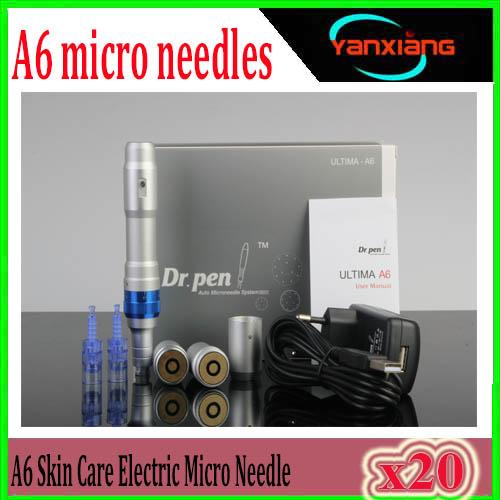 20pcs Derma pen High Quality Dr.pen Ultima A6 Auto Electric Micro Needle pen 2 batteries Rechargeable korea dermapen derma roller ZY-A6-1