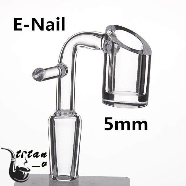 Domeless Electric Banger Nail For 20mm Heating Coil 5mm Bottom Clear Joint 90 Degree Glass Water Bongs Dab Oil Rig 668