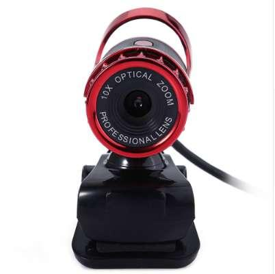 A859 Clip-on 360 Degree USB 12 Megapixel HD Web Camera with Microphone to the Computer Webcam for Video Call in Notebook Laptop