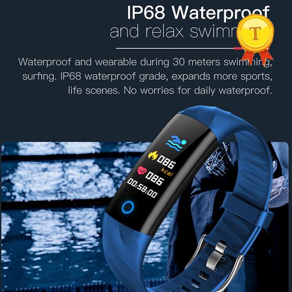 Indicatore luminoso Smart Band Colorful Screen Braccialetto Fitness Tracker Sveglia a frequenza cardiaca per ios