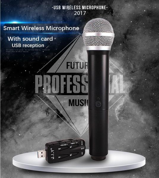JIY USB Universal Mikrofon Wireless Mikrofon Professionelles U-Band Wireless USB für Sing TV Computer Plug and Play
