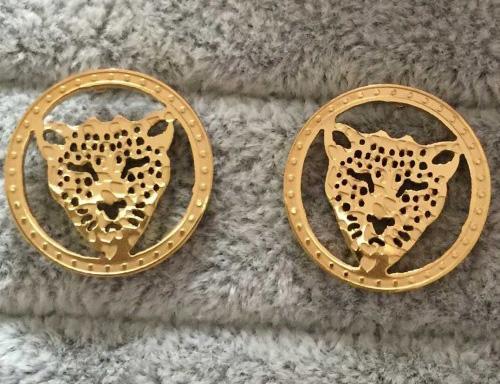 LU002 Hohe Qualität Neue Design tiger Schmuck Mode 316L Edelstahl Luxus 18 karat gold Überzogene Ohrringe Frauen und Männer