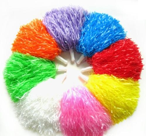 best selling Pom Poms Cheerleading Cheer Cheerleading Supplies Square Dance Props Color Can Choose Flower Dance Cheerleading Team Handbal