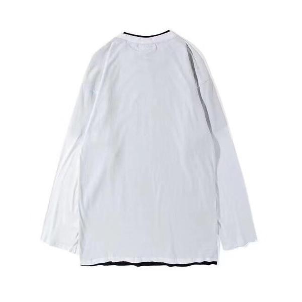 Doble de dos piezas de costura camiseta de manga larga camisa de imprimación suelta hombres y mujeres con el estilo envío gratis Nueva gama alta