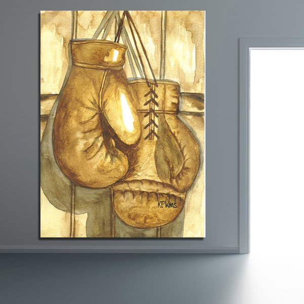 Pop Art Wall Decor Boxing Gloves Wall Pictures for Living Room Office Posters and Prints Home Decor No Framed