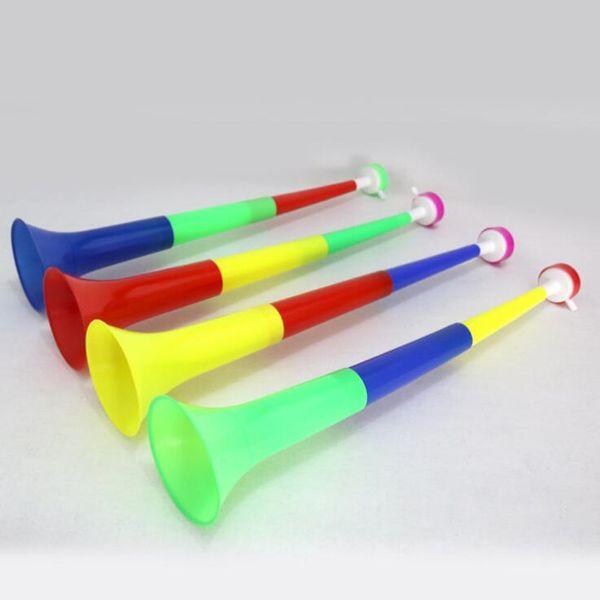 Coloré Trois Section Corne Rétractable Trompette Jouet Noise Maker Enfants Instrument Éducatif Faveurs De Fête D'anniversaire