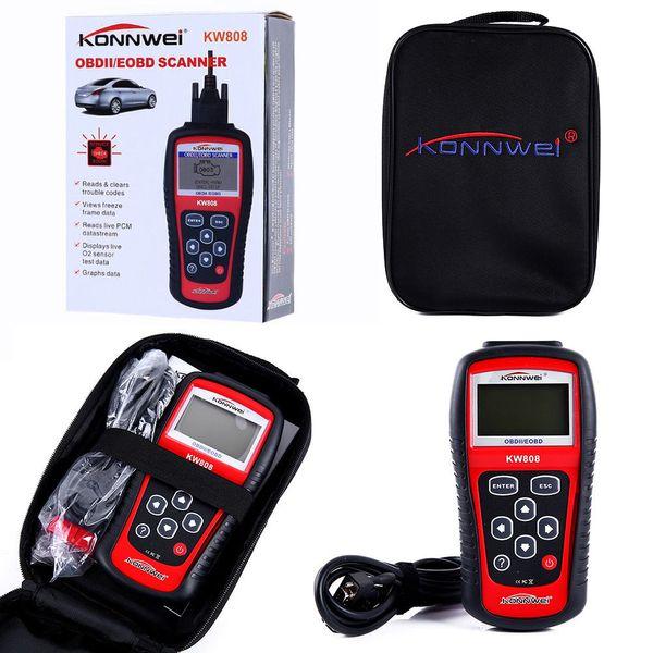 KONNWEI MS509 KW808 OBD2 OBDII EOBD Scanner Car Code Reader Tester Diagnostic With Retail box UPS DHL Free Shipping