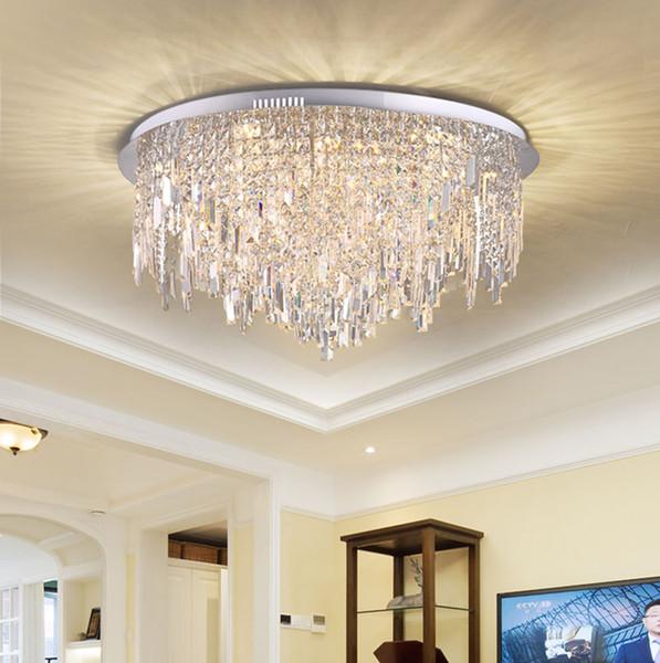 Großhandel Led Deckenleuchte Kristall Wohnzimmer Lampe Runde Schlafzimmer  Led Deckenleuchte Chrom Modern Minimalistisch Von Xiong1972, $392.99 Auf ...