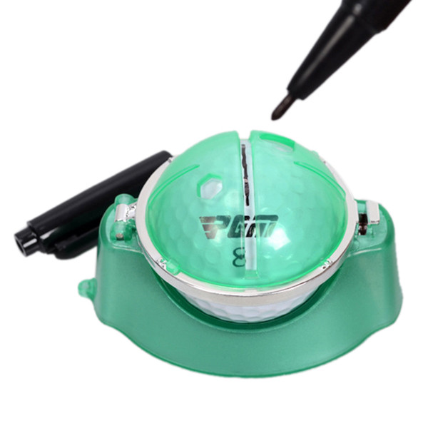 Indoor Outdoor Playing Golf Ball Liner Marker Template Drawing Alignment Tool + Pen Training Golf Practice Set
