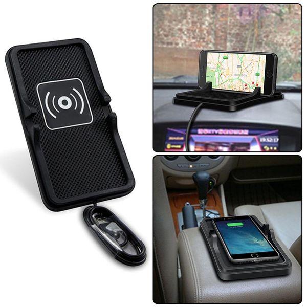QI Wireless Car Charger Pad Carregador Veicular Phone Charger Wireless Charging For iphone X 8 Samsung S8 Huawei Cargador Coche