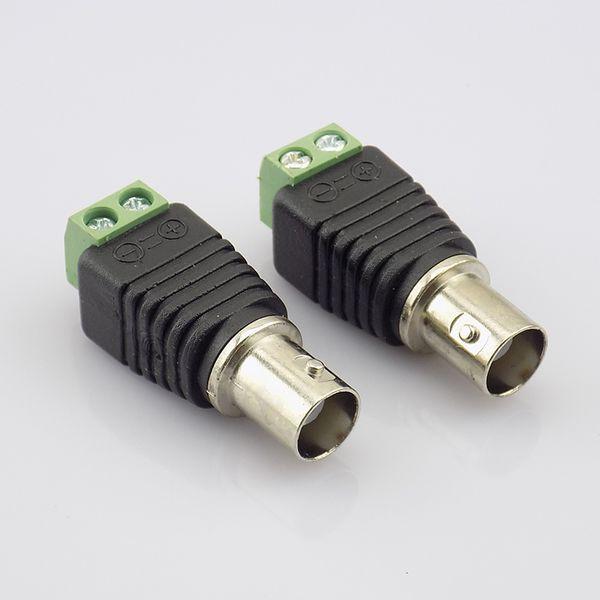 high quality 10pcs Coax Cat5 to BNC Female Connectors Video Plug Adapter BNC Plug UTP Video Balun Connector for CCTV Camera