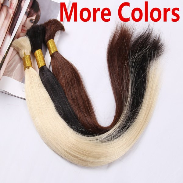 5A Grade 70g Silky Straight Black Brown Blonde Mix Piano Ombre Color Hair Bulk Hair Braid 100% Human Hair Extensions